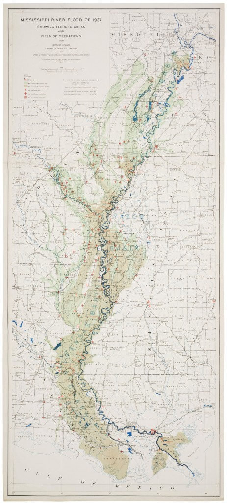 Map Of The Flood Of 1927 Lsu Law Center Climate Change Law And