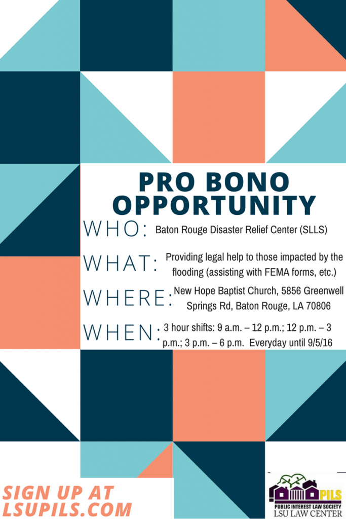 PILS Pro Bono - BR Disaster Relief