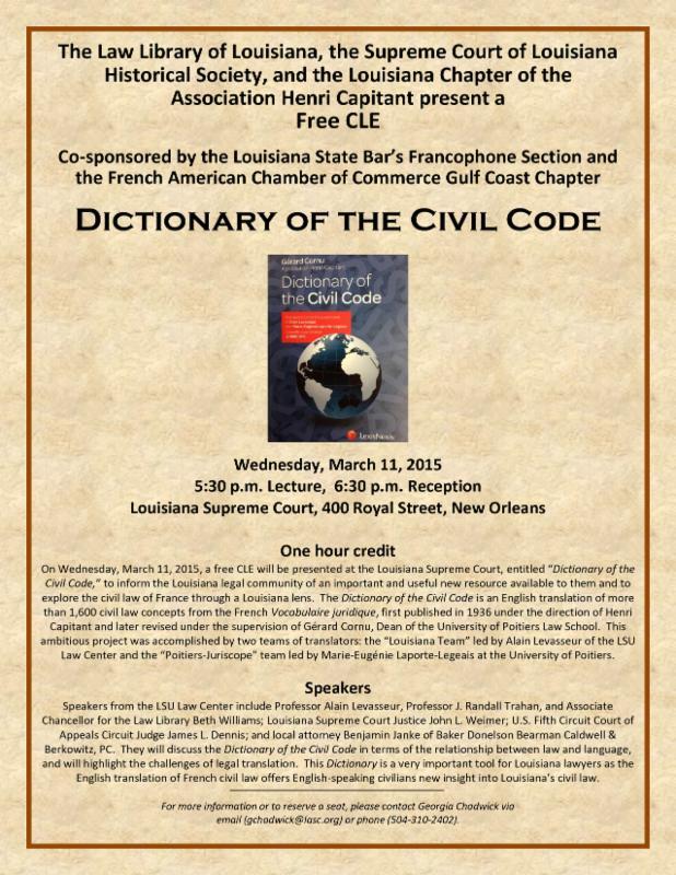 Dictionary Civil Code