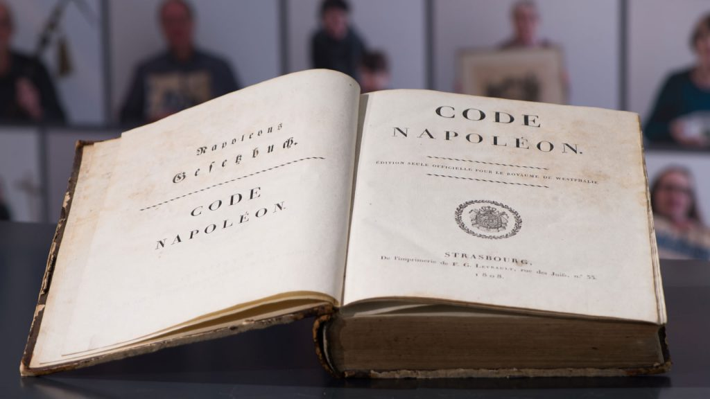 title pages of Code Napoléon, 1808 Official edition for the Kingdom of Westphalia