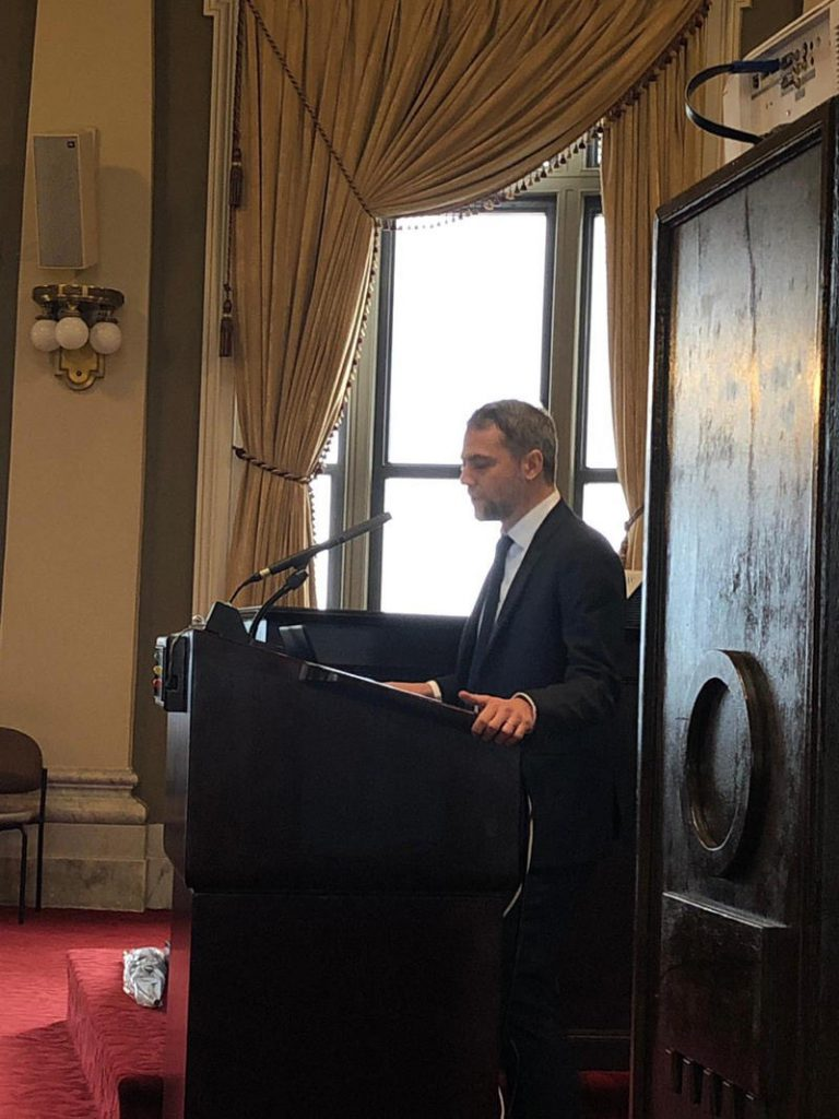Prof. Roda presenting at the Louisiana Supreme Court, New Orleans