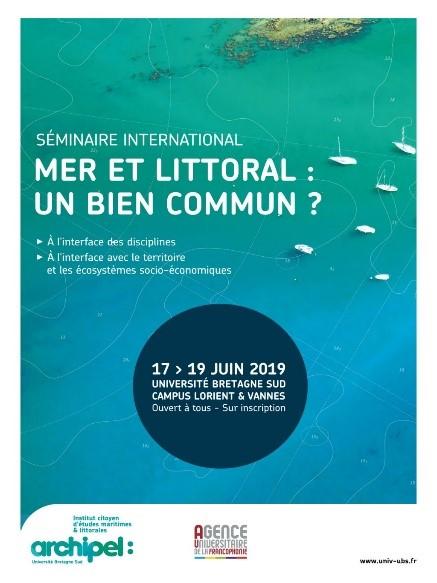 Poster of the seminar Mer et Littoral: Un bien Commun?