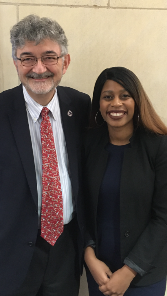 Nancy Maurice, LL.M. 2019, currently working at the Koerner Law Firm in New Orleans, celebrates her success at the New York Bar with Professor Olivier Moreteau