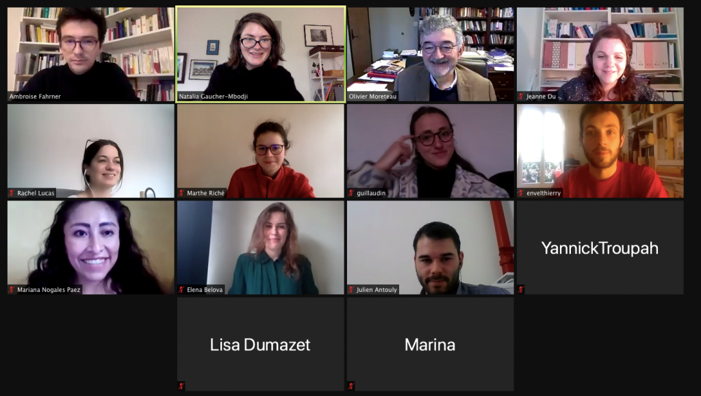 Picture of the participants to the Zoom meeting